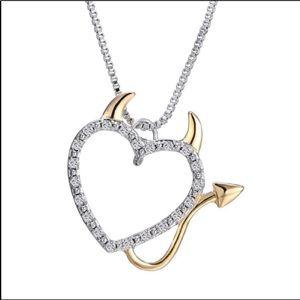 18K GF Devil heart necklace